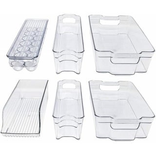 Storagemaid Refrigerator Organizer Bins - Stackable Storage Containers