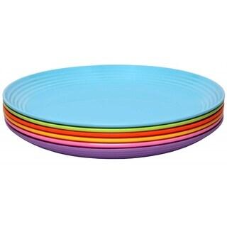 Melange 6-Piece Melamine Salad Plate Set (Solids Collection ) Shatter-Proof Salad Plates Multicolor