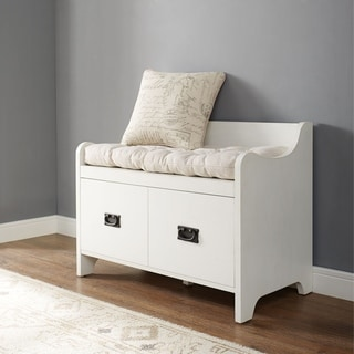 The Gray Barn Fairways Entryway Bench in Distressed White