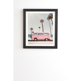 Deny Designs Pink Van Framed Wall Art (3 Frame Colors) - Blue