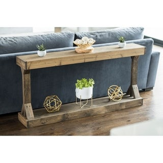 Barb Large Console Table Solid Wood by Del Hutson Designs