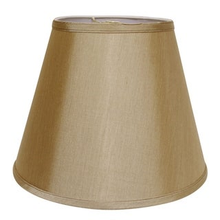 Cloth & Wire Slant Deep Empire Hardback Lampshade with Washer Fitter, Tan