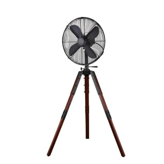 "Star Fans Star Tripod 16-inch Stand Fan with Wooden Legs - 16"""
