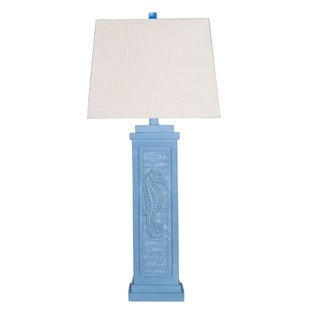 "32"" Coastal Polyresin Shutter Table Lamp"
