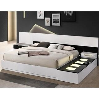 Best Master Furniture 4 Pieces Black/ White Bedroom Set
