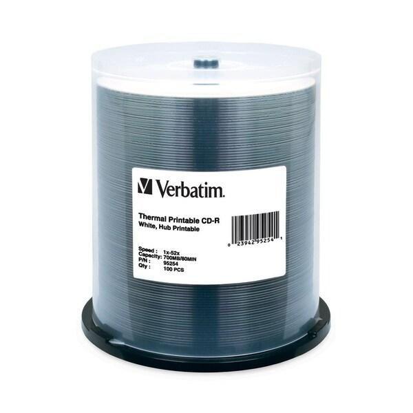 Verbatim CD-R 700MB 52X White Thermal Printable, Hub Printable - 100p