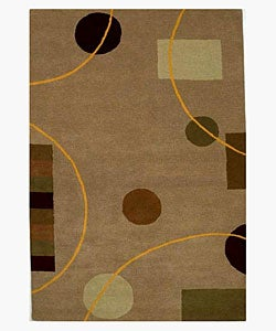 Hand-tufted Eklas Contemporary Wool Rug (8' x 10'6)