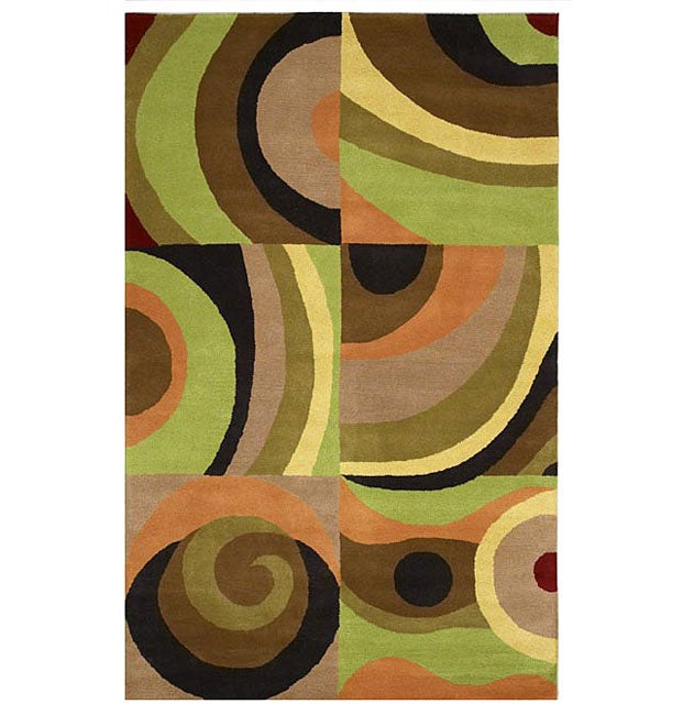 Hand-tufted Parial Wool Rug (8' x 10'6)