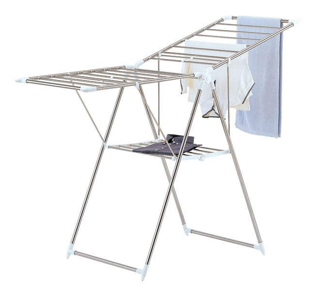 Large Collapsible Chrome Finish Drying Rack