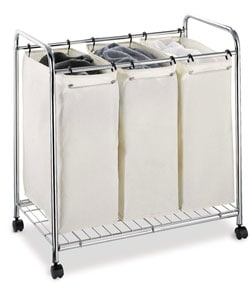 Organize It All 3-section Laundry Sorter