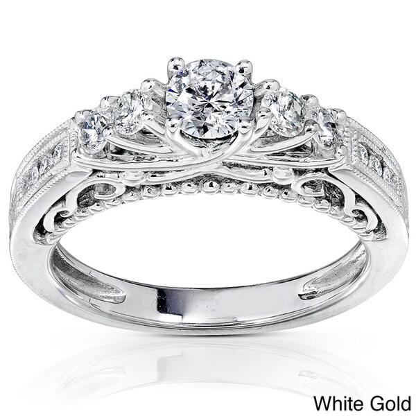 Annello 14k Gold 3/4ct TDW Round Brilliant Diamond Ring (H-I, I1-I2)