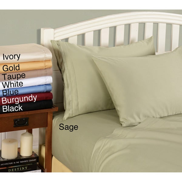 Egyptian Cotton 800 Thread Count Solid Pillowcase Set