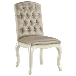 Gracewood Hollow Bhatt Pearl and Silvertone Upholstered Armless Chair
