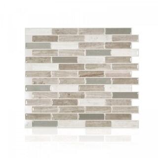 Milenza Vasto 10.20 in. x 9 in. Peel and Stick Self-Adhesive Decorative Mosaic Wall Tile Backsplash (4-Pack)