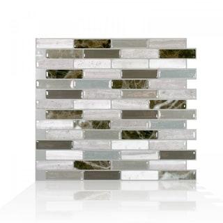 Milenza Genoa 10.20 in. x 9 in. Peel and Stick Self-Adhesive Decorative Mosaic Wall Tile Backsplash (4-Pack)