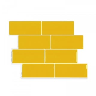 Metro Sunny 11.56 in. x 8.38 in. Peel and Stick Self-Adhesive Decorative Mosaic Wall Tile Backsplash (4-Pack)