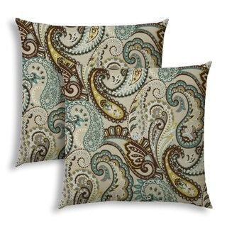 POSITIVELY PAISLEY Indoor/Outdoor Pillows - Sewn Closure (Set of Two)