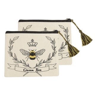 Queen Bee Cosmetic Pouches, Set of 2