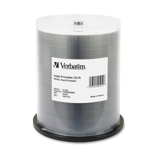 Verbatim 95252 CD Recordable Media - CD-R - 52x - 700 MB - 100 Pack S
