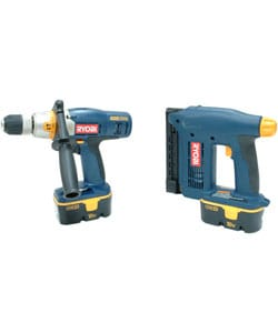 Factory Reconditioned Ryobi ZRP1003 2-PIECE Combo Kit 3-Speed Hammer Drill and Nailer/Stapler