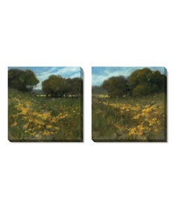 Summer Walk Series Gallery-wrapped Canvas Art Set