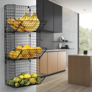 3 Tier Wall Mounted Storage Rack - Black
