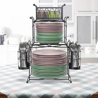 Sorbus 3 Tier Utensil Caddy - Multi-Purpose Steel Mesh Caddy