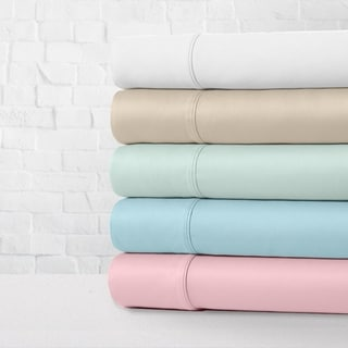 Luxe Cotton Percale Crisp and Cool 4-Piece Bed Sheet Set