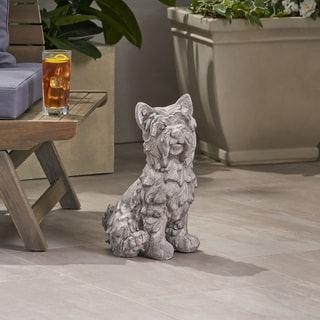 Christopher Knight Home Cricket Terrier Dog Outdoor Garden Statue