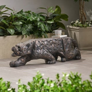 Christopher Knight Home Glory Leopard-shaped Outdoor Concrete Bench