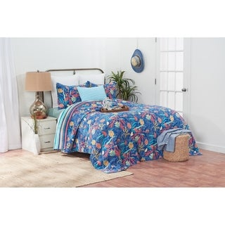 Bimini Island Coastal Reversible Cotton Quilt Set