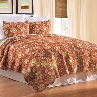 Ghisella Reversible Cotton 3 Piece Quilt Set - Twin 2 Piece