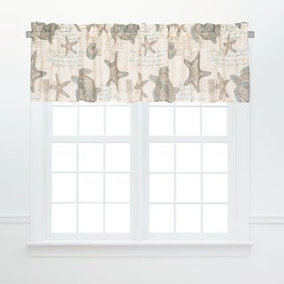 Amber Sands Window Cotton Window Curtain Valances (Set of 2) - 15.5 x 72