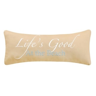 Life's Good at The Beach 8 x 20 Decororative Accent Throw Pillow