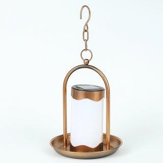 Hanging Copper Solar Light Lantern