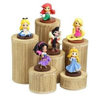Wooden 6 Pcs Round Risers Accessories Stand