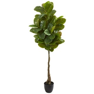 "65"" Rubber Leaf Artificial Tree (Real Touch)"