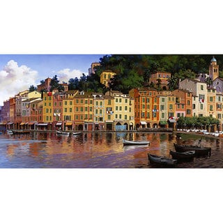 Hava 'Portofino' Large Canvas Art