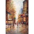 Joval 'French Street Scene' Large Canvas Art