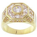 Simon Frank 3.78 Equivalent Diamond Weight Men's Octagon CZ Ring