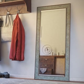 "Walt Slate and Antique Brown 65-inch Height Rectangular Floor Mirror - 65"" x31"""