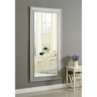 "Titus Galvanized Metal 65-inch Height Rectangular Floor Mirror - 65"" x 31"""