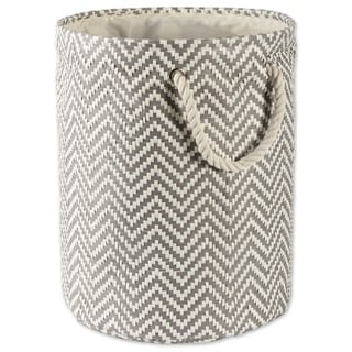 DII Round Chevron Decorative Storage Bin