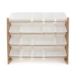 Journey Super-Sized Storage Organizer w/ 16 Bins, Natural/White
