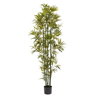 Pure Garden Green Trunk Artificial Bamboo Potted Indoor Floor Plant