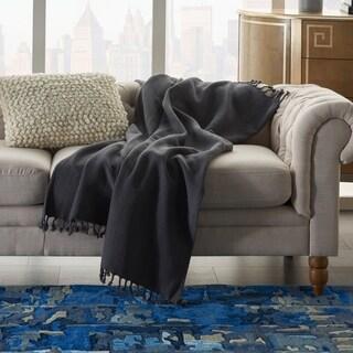 Mina Victory Solid Chevron Throw Blanket