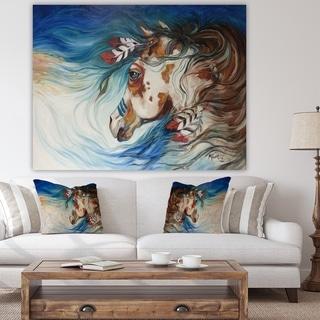 Designart 'The Drifter Indian War Horse' Cottage Premium Canvas Wall Art