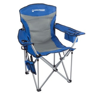 Wakeman Outdoors Heavy-duty 850-pound High-weight-capacity Big Tall Quad-seat Camp Chair with Cupholder/Cooler/Carrying Bag