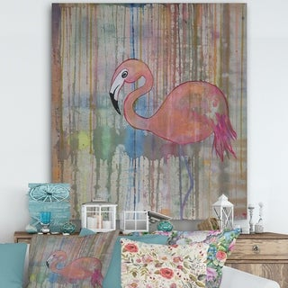 Porch & Den 'Flamingo I' Cottage Canvas Wall Art