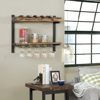 Carbon Loft Lawrence Wall Shelving with Wine Storage